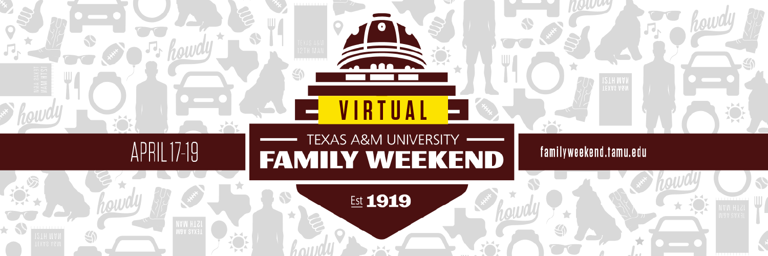 Virtual Family Weekend graphic